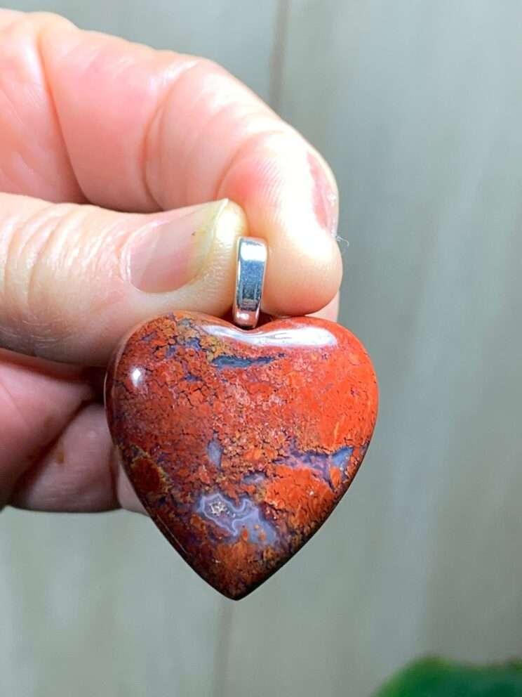 Natural Indonesian Red Moss Agate