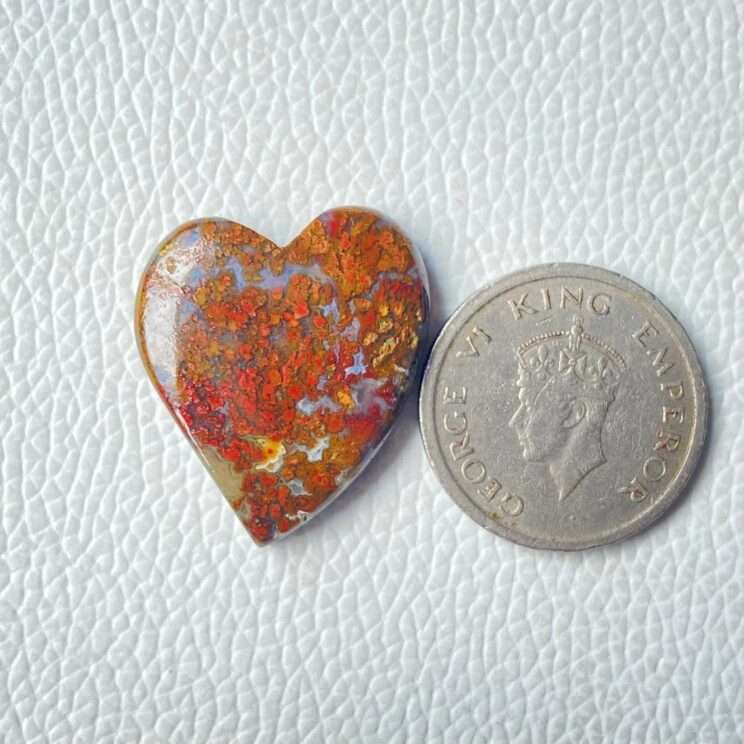 Natural Red Moss Agate Gemstone
