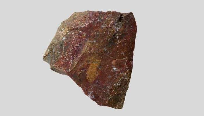 red moss agate stone
