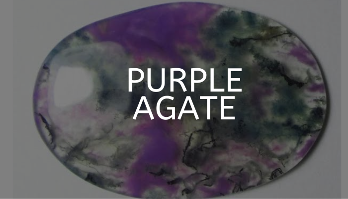 purple agate stone